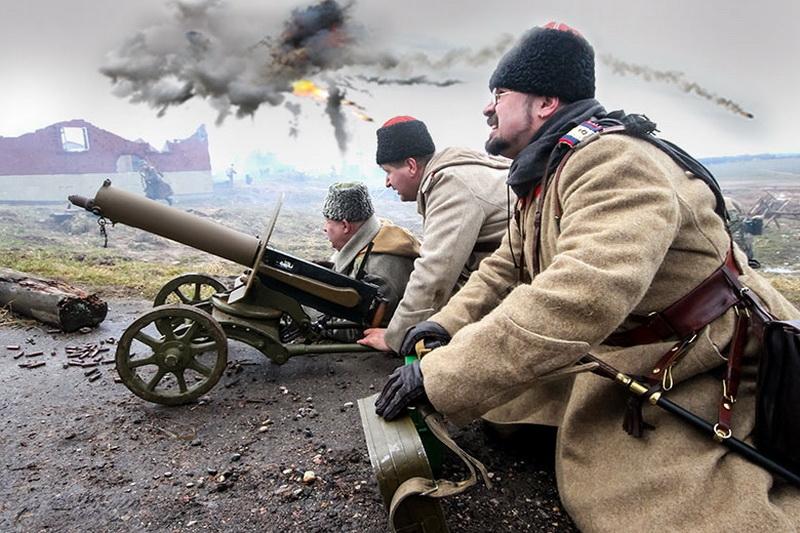 Реконструкция боя Первой мировой войны